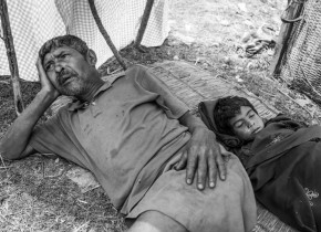 Kale Sarki mourns the death of his grandson Rakesh Nepali, 7 years old under the temporary shelter at Sirubari village of Simjung VDC, Gorkha. Rakesh lost his life as he could not get any treatment at the village. According to the mother of he was all right until 7 may. In the morning of 8 may, he started to vomit and had also stomach pain. The mother of Rakesh was seeking health facility in the village. Rakesh lost his life before he got any health care. I could not see any health care and doctors at that time in Simjung VDC.